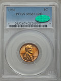 Lincoln Cents, 1936 1C MS67+ Red PCGS. CAC....