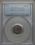 Early Half Dimes, 1795 H10C V-3, LM-4, R.6 -- Surfaces Tooled -- PCGS Genuine....
