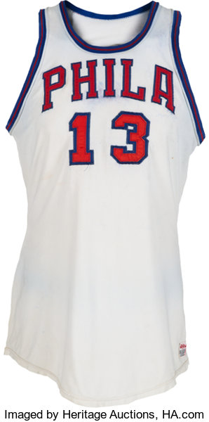 hot sale online f5f46 d2f31 1967-68 Wilt Chamberlain Game Worn Philadelphia 76ers ...