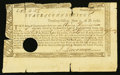 Colonial Notes:Connecticut, Connecticut Treasury Certificate £12.4s.5d June 1, 1780 AndersonCT-18 Very Good, HOC.. ...
