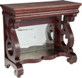 Furniture , AN AMERICAN EMPIRE-STYLE MAHOGANY MIRRORED PIER TABLE, circa 1840. 39 x 44 x 18 inches (99.1 x 111.8 x 45.7 cm). PROPERTY ...