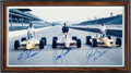 Autographs:Bats, 1988 Indianapolis 500 Front Row Qualifiers Signed Photograph....