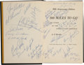 Miscellaneous Collectibles:General, 1966 500 Miles To Go Multi Signed Book. ...
