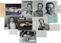 Miscellaneous Collectibles:General, NASCAR Greats Signed Memorabilia Lot of 13....