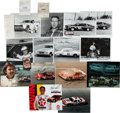 Miscellaneous Collectibles:General, NASCAR Greats Signed Photographs and Racing Licenses, Etc. Lot of16....
