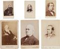 Photography:CDVs, [Nineteenth Century Notables]. Three Cabinet Cards and Three Cartes de Visite....