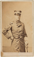 Autographs:Military Figures, Union Admiral David Farragut Carte de Visite Signed....