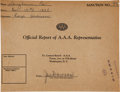 Miscellaneous Collectibles:General, 1935 Joe Dawson Signed Indy 500 Driver Certificate....