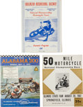 Miscellaneous Collectibles:General, 1950-74 Motorcycle Racing Programs Lot of 18....
