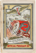 Miscellaneous Collectibles:General, 1909 Indianapolis Speedway Program....