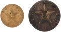 Militaria:Uniforms, Two Mississippi Confederate Infantry Buttons.... (Total: 2 Items)
