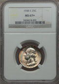 Washington Quarters, 1948-S 25C MS67+ NGC....