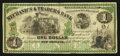 Obsoletes By State:Louisiana, New Orleans, LA- Mechanics & Traders Bank $1 Dec. 26, 1873. ...