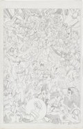 Original Comic Art:Splash Pages, Brian Trivieri Marvel vs. DC Pin-Up Original Art(undated)...