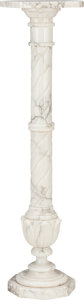 Decorative Arts, Continental, A SMALL ITALIAN MARBLE PEDESTAL, 20th century. 36 inches high (91.4cm). PROPERTY FROM THE ESTATE OF FRED D. WARD...