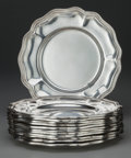 Silver & Vertu:Hollowware, A SET OF TWELVE CAMUSSO SILVER BREAD AND BUTTER PLATES, Lima, Peru, circa 2000. Marks: CAMUSSO, (flag), 925, INDUSTRIA... (Total: 12 Items)