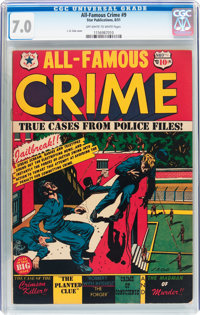 All-Famous Crime #9 (#2) (Star Publications, 1951) CGC FN/VF 7.0 Off-white to white pages