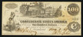 Confederate Notes:1862 Issues, Error T39 $100 1862 PF-2 Cr. UNL.. ...