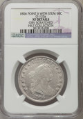 Early Half Dollars, 1806 50C Pointed 6, Stem, O-120a, R.4, -- Obverse Scratched -- NGCDetails. XF. Ex: Hilt Collections. NGC Census: (2/8). P...