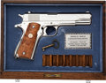 Handguns:Semiautomatic Pistol, Cased Colt Model 1911A1 1970 WWII Series European Theater Semi-Automatic Pistol....