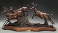 Fine Art - Sculpture, American, DENNIS JONES (American, b. 1943). Autumn Gold, 1986. Bronzewith brown patina. 14-1/4 inches (36.2 cm) high on a 2 inche...