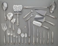 Silver Flatware, American, A ONE-HUNDRED-AND-FIVE PIECE WALLACE GRANDE BAROQUE PATTERNSILVER PARTIAL FLATWARE SERVICE, Wallingford, Conne... (Total: 105Items)