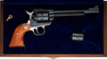 Handguns:Single Action Revolver, Cased Commemorative Ruger New Model Single-Six Convertible Revolver....