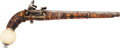 Handguns:Muzzle loading, A Fine Caucasian Miquelet-Lock Pistol with Gold Inlay, Mid 19th Century....