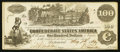 Confederate Notes:1862 Issues, T39 $100 1862 PF-1 Cr. 289.. ...