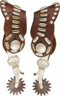 Western Expansion:Cowboy, Maker-Marked McChesney Spurs c1928....