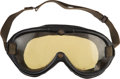 Miscellaneous Collectibles:General, 1953 Manny Ayulo Race Worn Goggles....