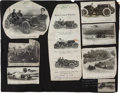 Miscellaneous Collectibles:General, 1909 Wilfred Bourque Signed Sheet - First Killed at Indy....