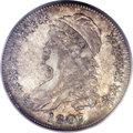 1807 50C Capped Bust, Large Stars, 50 Over 20, O-112, R.1, AU53 PCGS. CAC. PCGS Population: (6/11). NGC Census: (12/39)...