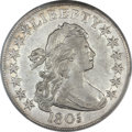 Early Half Dollars, 1805 50C O-112, R.2 -- Cleaning -- PCGS Genuine. AU Details....