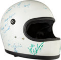 Miscellaneous Collectibles:General, 1976 Indianapolis 500 Drivers Multi-Signed Helmet....