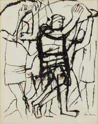 BEN SHAHN (American 1898-1969) TITLE Ink on paper 11-1/2 x 9 inches (29.2 x 22.9 cm) Signed on