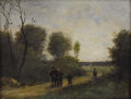 Fine Art - Painting, European:Antique  (Pre 1900), Attributed to LAURE LACOMBE (French 1834-1923). Landscape.Oil on canvas. 8-5/8 x 10-5/8 inches (21.9 x 27.0 cm). Signed...