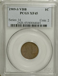 Lincoln Cents, 1909-S VDB 1C XF45 PCGS....