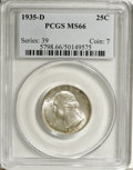 Washington Quarters, 1935-D 25C MS66 PCGS....