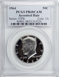 Proof Kennedy Half Dollars, 1964 50C Accented Hair PR68 Cameo PCGS....