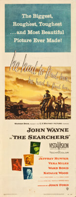 """The Searchers (Warner Brothers, 1956). Insert (14"""" X 36"""")"""