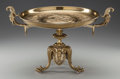Decorative Arts, French, A FRENCH GILT BRONZE TAZZA, circa 1909. 9-3/8 x 16 x 11-5/8 inches(23.8 x 40.6 x 29.5 cm). ...