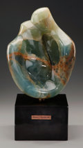 Sculpture, ROBERT ISAIAH RUSSIN (American, 1914-2007). Abstract Figural Sculpture. Green onyx. 13-1/2 inches (34.3 cm) high on a 4-...