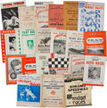 Miscellaneous Collectibles:General, 1938-75 Auto Racing Programs Lot of 22....