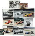 Miscellaneous Collectibles:General, 1960's-'80's Collection of 11 Signed Indianapolis 500 Photographs -Pollard & Rebaque. ...