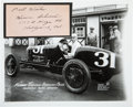Miscellaneous Collectibles:General, 1920's Herman Schurch Signed Cut Signature with Photograph. ...