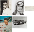Miscellaneous Collectibles:General, Speedy Thompson, Curtis Turner and Milt Marion Signed Lot of 3....