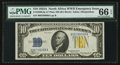 Small Size:World War II Emergency Notes, Late Finished Plate 86 Fr. 2309 $10 1934A North Africa Silver Certificate. PMG Gem Uncirculated 66 EPQ.. ...