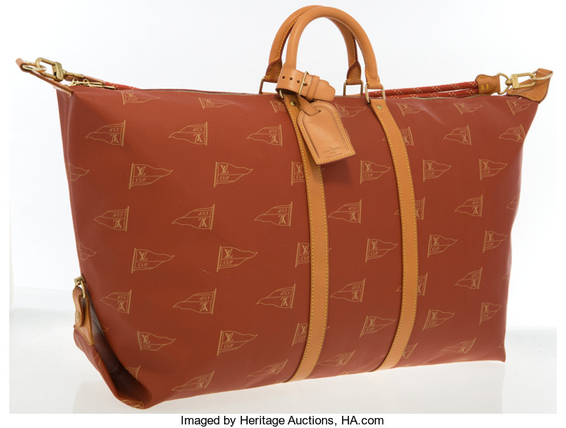 ed430be40 ... Luxury Accessories:Accessories, Louis Vuitton Limited Edition Red LV  Cup Sac Cabourg Travel Bag ...