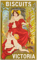 19th Century European, GICAR (Late 19th Century). Biscuits Victoria, 1900. Colorposter. 58 x 36-1/4 inches (147.3 x 92.1 cm) (sight). Signed l...